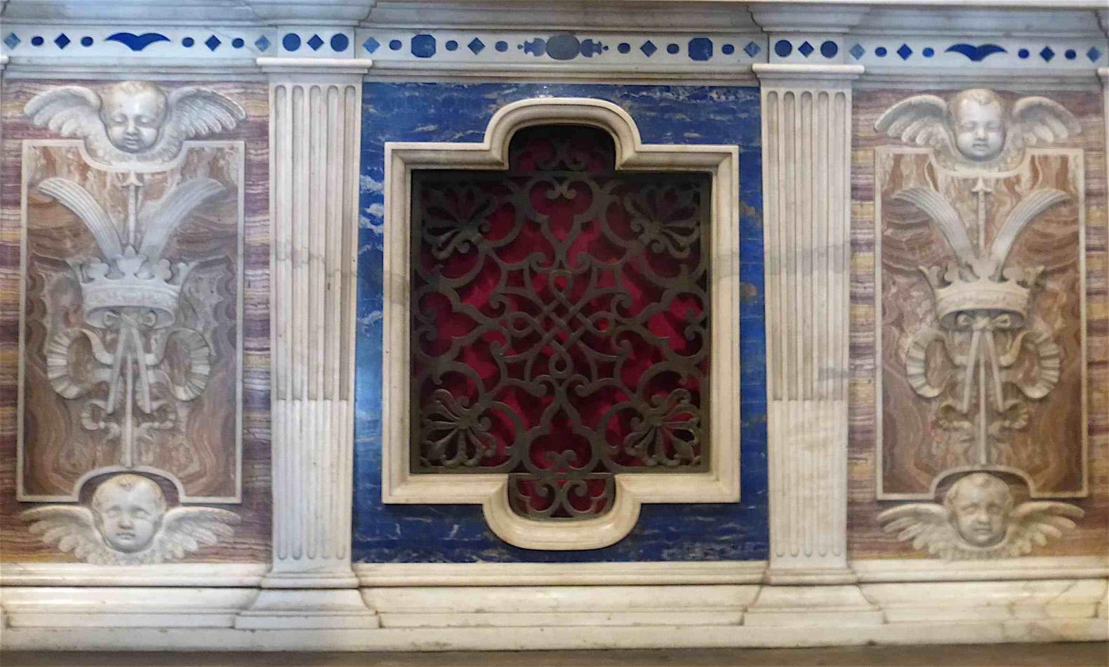 Altar- marble work, lapis lazuli