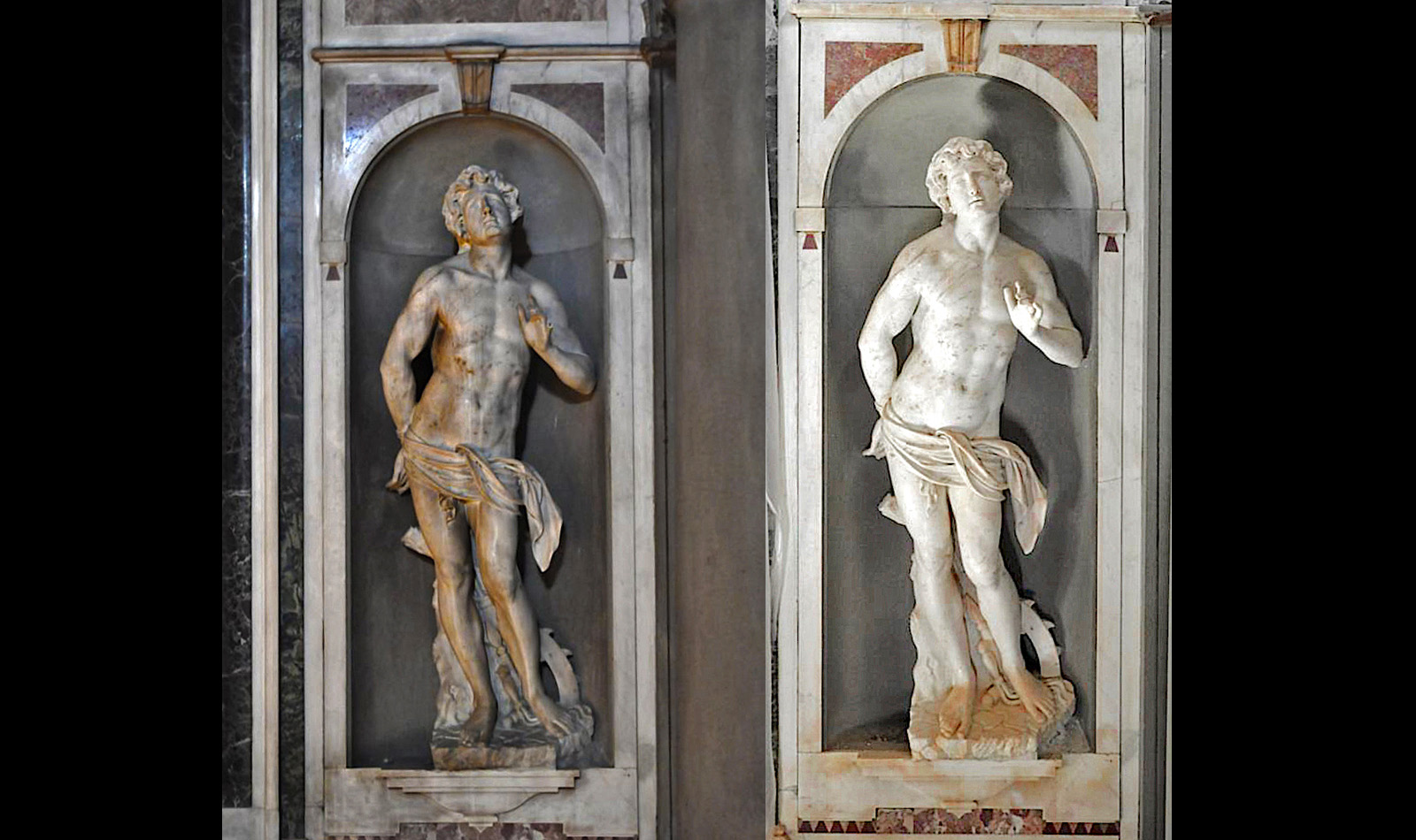 St. Sebastian (Before and After)