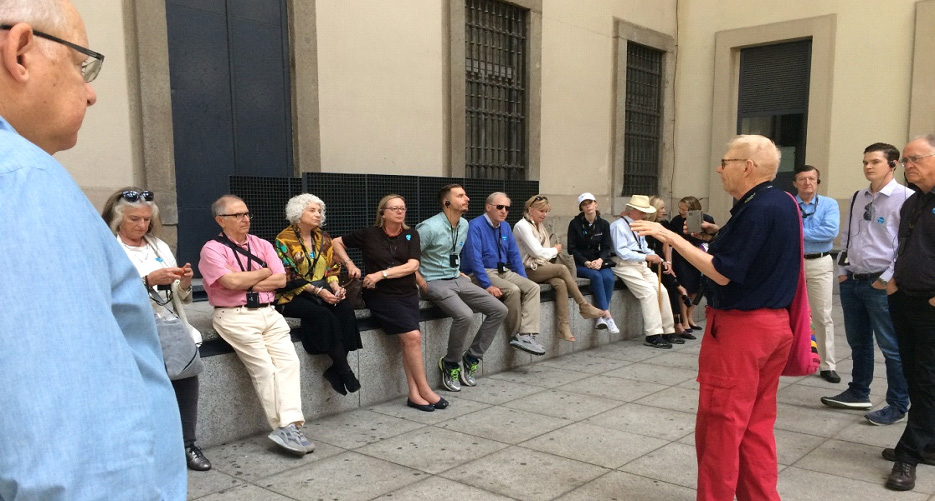 Bill Cook prepares the group to see Guernica, with a history of the Spanish Civil War.