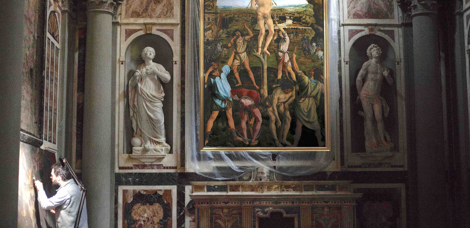 Photomontage with Altarpiece Installed
