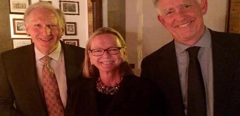 Jeff, Simonetta and Bill at the Farewell Dinner in Palazzo Antinori.